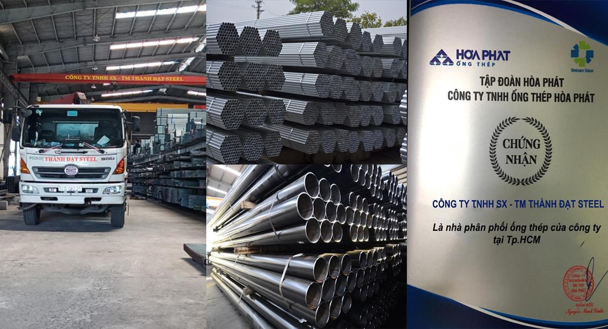 Báo giá thép hộp Hòa Phát mới nhất tại kho hàng Thành Đạt Steel