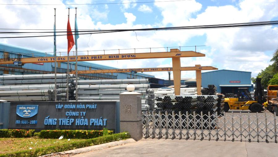 Nhà máy sản xuất thép hộp Hòa Phát tại Bình Dương